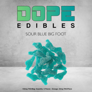 Sour Blue Big Foot Dope Edibles