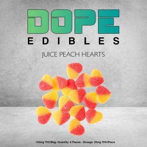 Juice Peach Hearts Dope Edibles